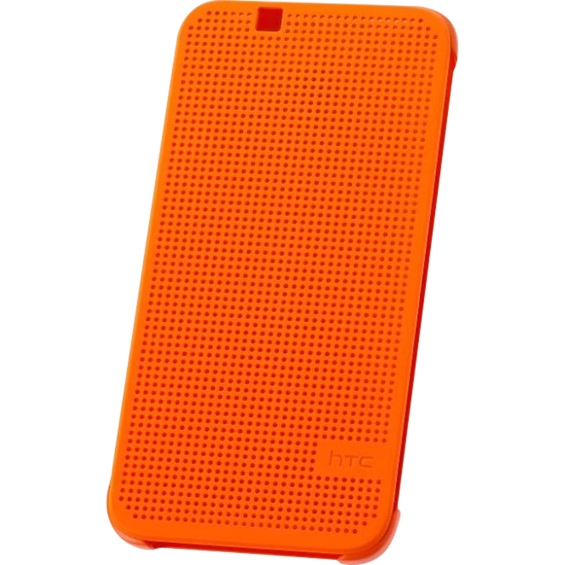 HTC Desire 510 Dot View Case Oranje