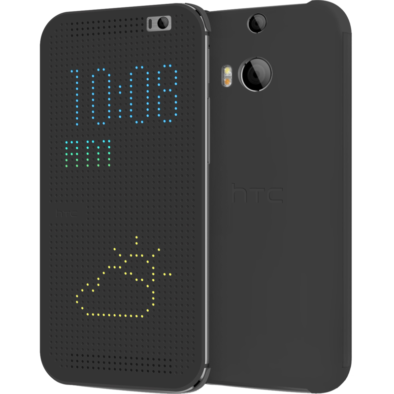 One M8 dot flipcase grey