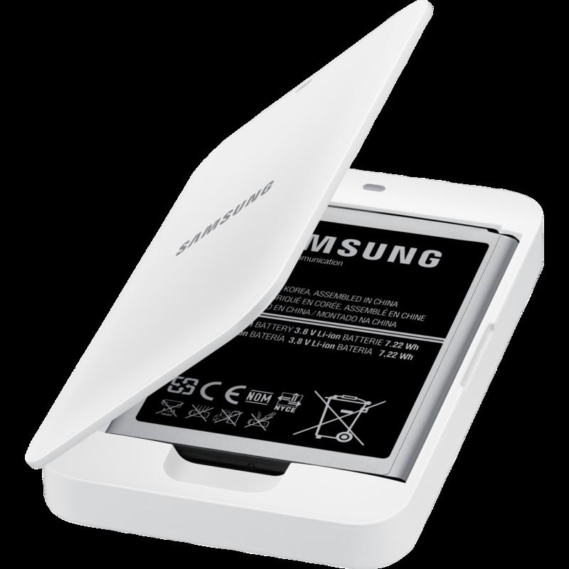De samsung galaxy s4 mini battery kit is een oplader voor een losse oplaadbare batterij van de galaxy s4 mini....